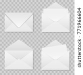 set of realistic envelopes... | Shutterstock .eps vector #771966604