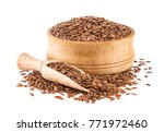 flax seeds isolated on white... | Shutterstock . vector #771972460