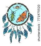 ethnic illustration of tribal...   Shutterstock .eps vector #771975520
