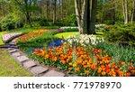 Spring Formal Garden. Beautifu...