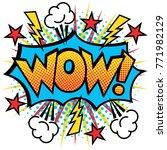 wow  text design pop art... | Shutterstock .eps vector #771982129