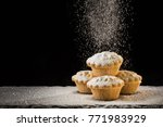 sugar dusted mince pies | Shutterstock . vector #771983929