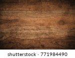 old grunge dark textured wooden ... | Shutterstock . vector #771984490
