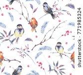 watercolor seamless pattern... | Shutterstock . vector #771985324
