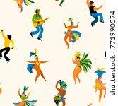 brazil carnival. seamless... | Shutterstock .eps vector #771990574