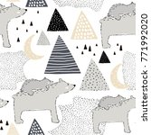 seamless childish pattern with... | Shutterstock .eps vector #771992020