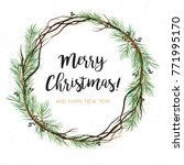 vector greeting card  invite ... | Shutterstock .eps vector #771995170