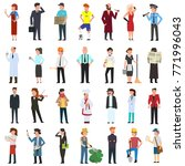 many simple characters of... | Shutterstock .eps vector #771996043