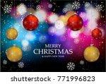christmas light vector... | Shutterstock .eps vector #771996823