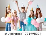 group of small children have... | Shutterstock . vector #771998374