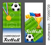 soccer stylized banners with... | Shutterstock .eps vector #772000720