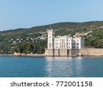 miramare castle on the gulf of... | Shutterstock . vector #772001158