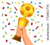 illustration of soccer cup in... | Shutterstock .eps vector #772001770