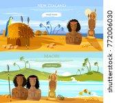 new zealand banners. village of ... | Shutterstock .eps vector #772006030