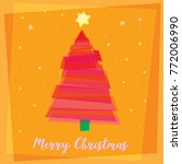 christmas tree in orange | Shutterstock .eps vector #772006990