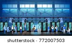 bitcoin mining farm in data... | Shutterstock .eps vector #772007503