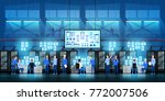 it engineers in big data center ... | Shutterstock .eps vector #772007506