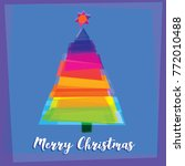 the multicolored christmas tree ... | Shutterstock .eps vector #772010488