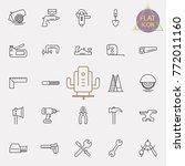 outline web icons set  ...   Shutterstock .eps vector #772011160