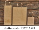 mock up of brown craft paper... | Shutterstock . vector #772011574