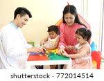 preschoolers having fun in...   Shutterstock . vector #772014514