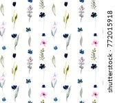 watercolor small  pink and blue ...   Shutterstock . vector #772015918