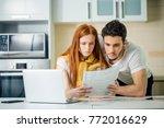 couple managing finances ...   Shutterstock . vector #772016629