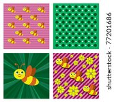 little bee. vector background.... | Shutterstock .eps vector #77201686
