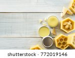 homemade natural lip balm    Shutterstock . vector #772019146