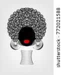 portrait african women   dark...   Shutterstock .eps vector #772021588