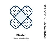 plaster lineal color vector... | Shutterstock .eps vector #772022158