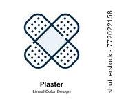 plaster lineal color vector... | Shutterstock .eps vector #772022158