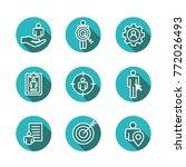 target market icons of buyer... | Shutterstock .eps vector #772026493