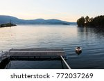 old boat on the river minho ... | Shutterstock . vector #772037269