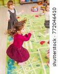 group of little children  | Shutterstock . vector #772046410