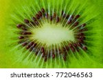 background with kiwi macro.... | Shutterstock . vector #772046563