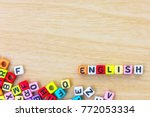 colorful english alphabet cube... | Shutterstock . vector #772053334