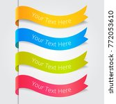 set of ribbons. vector... | Shutterstock .eps vector #772053610
