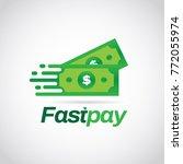 fast pay dollar money logo sign ... | Shutterstock .eps vector #772055974