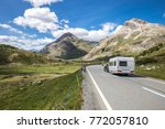 a caravan on the way to the... | Shutterstock . vector #772057810