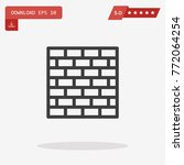 outline wall brick icon...