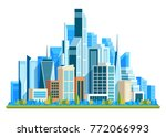 urban landscape with high... | Shutterstock .eps vector #772066993