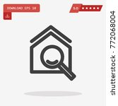 outline magnifying glass icon...