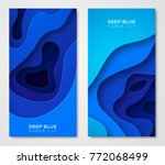 vertical banners with 3d... | Shutterstock .eps vector #772068499