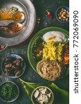 indian food  various dinner... | Shutterstock . vector #772069090
