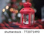 red lamp with stars on the... | Shutterstock . vector #772071493