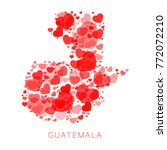 map of guatemala filled with...   Shutterstock .eps vector #772072210