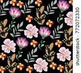 flower pattern leaf and nature | Shutterstock .eps vector #772072330