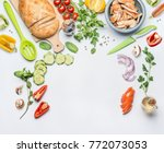 healthy clean eating layout for ... | Shutterstock . vector #772073053