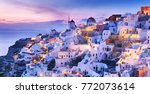 greece. charming twilight... | Shutterstock . vector #772073614